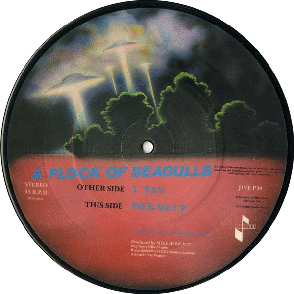 "A Flock Of Seagulls - I Ran 7"" picture disc"