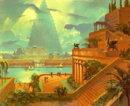Hanging Gardens of Babylon From the Neo-Babylonian Period Under Nebuchadnezzar II (Fusion Anomaly)