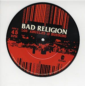 "Bad Religion - Los Angeles Is Burning / The Surface Of Me 7"" picture disc"