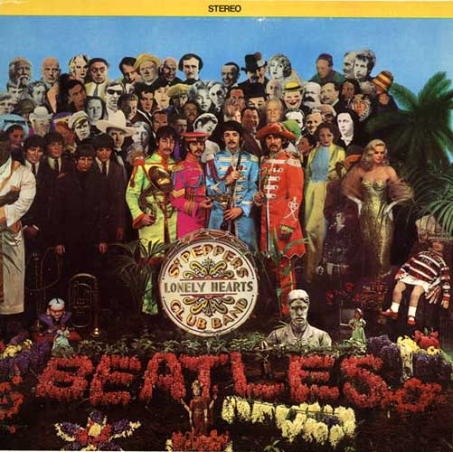 Beatles - Sgt. Pepper's Lonely Hearts Club Band cover detail