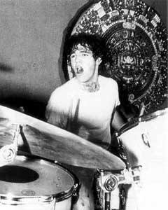 Bill Stevenson drums for Black Flag keeping time to the Aztec calendar