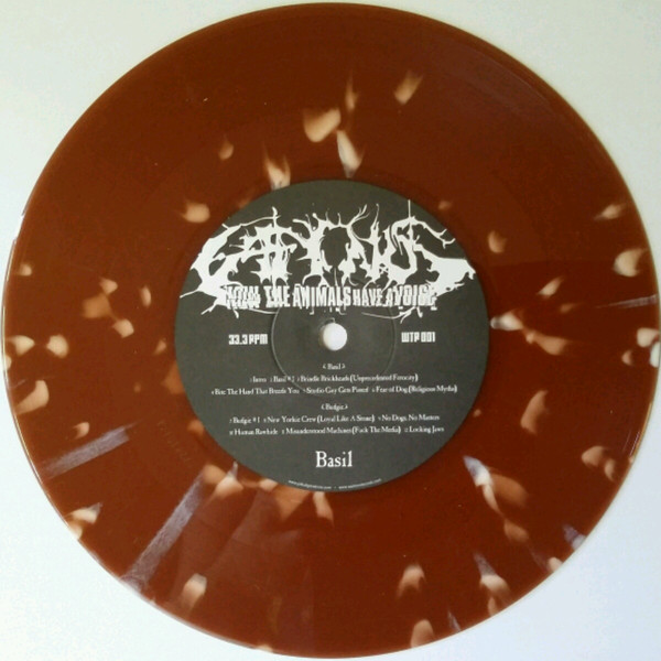 "Caninus - Now The Animals Have A Voice 7"" (vomit chunks splatter vinyl)"