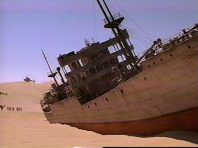 shipwrecked in the Gobi Desert...