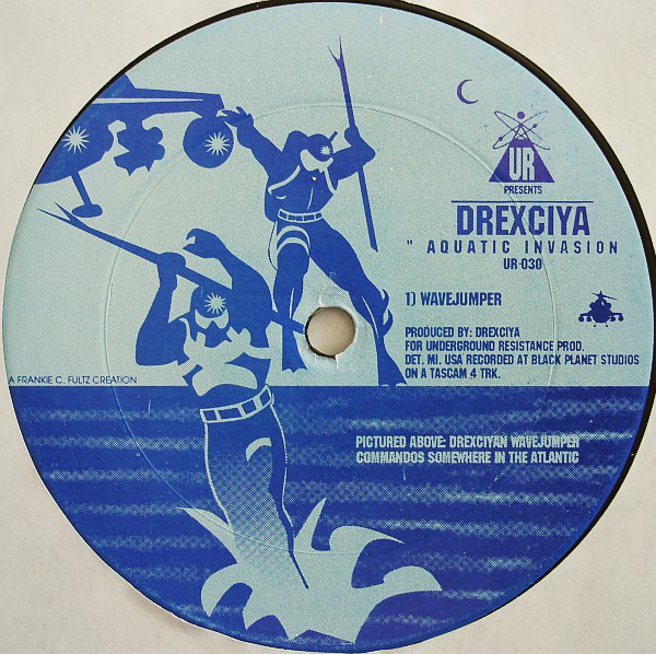 "Drexciya - Aquatic Invasion 12"" center label"
