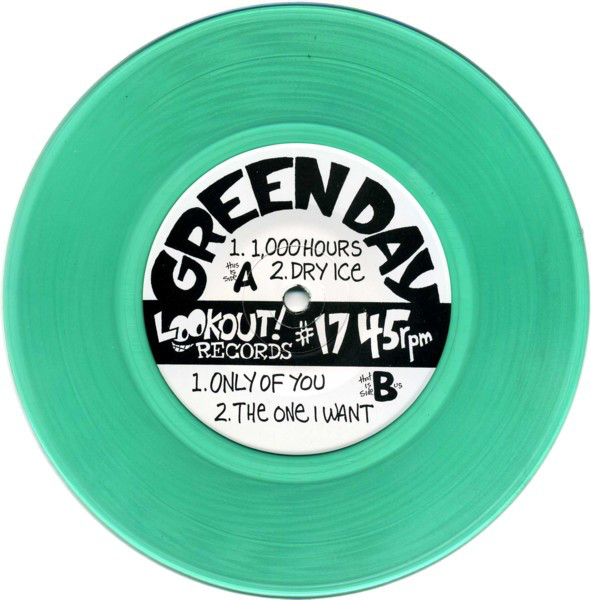 "Green Day - 1,000 Hours 7"" green translucent vinyl"