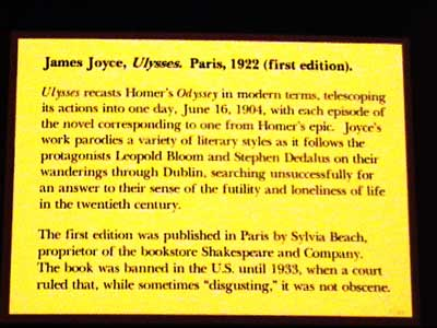 Huntington Library - Ulysses by James Joyce description