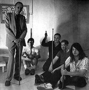 William S. Burroughs and Husker Du overlooked by Keith Haring
