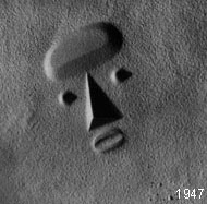 model for Sculpture To Be Seen From Mars by Isamu Noguchi