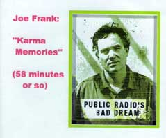 Joe Frank - Karma Memories CDb - back