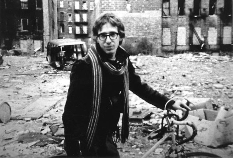 John Zorn on a bicycle