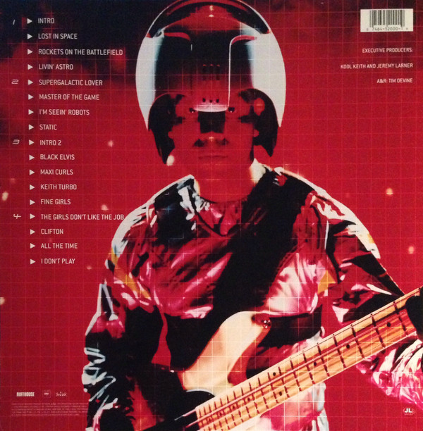 "Kool Keith - Black Elvis/Lost In Space 12""x2 back cover"