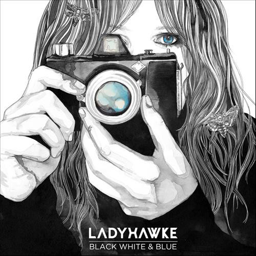 "Ladyhawke - Black, White & Blue 7"" cover"