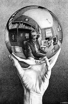 MC Escher - Hand With Sphere - left hand