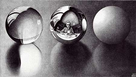 _Three Spheres II_ by MC Escher