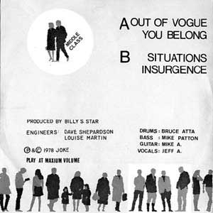 Middle Class - Out Of Vogue released 1978