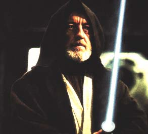 Obi-Wan in episode VI fiting darth vader