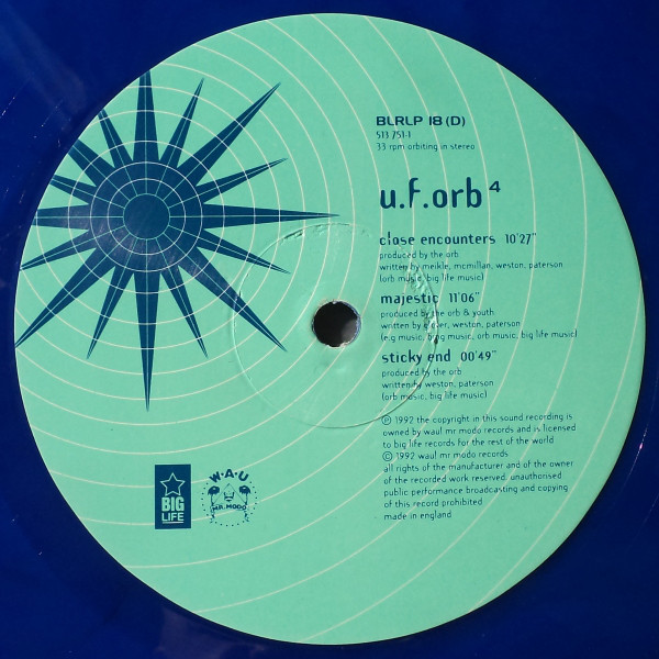 "The Orb - U.F.Orb 12""x2 (blue vinyl)"