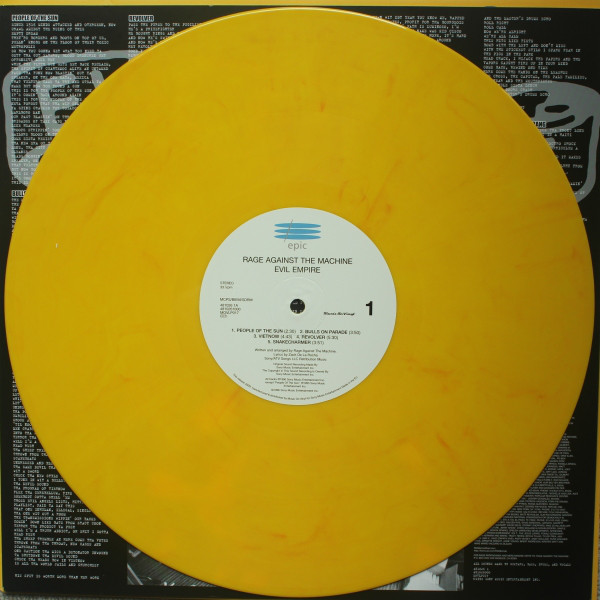 "Rage Against The Machine - Evil Empire 12"" (yellow vinyl)"
