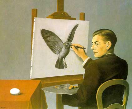 MODulate DEModulate - uncompressing the seed - Rene Magritte - Clairvoyance 1936