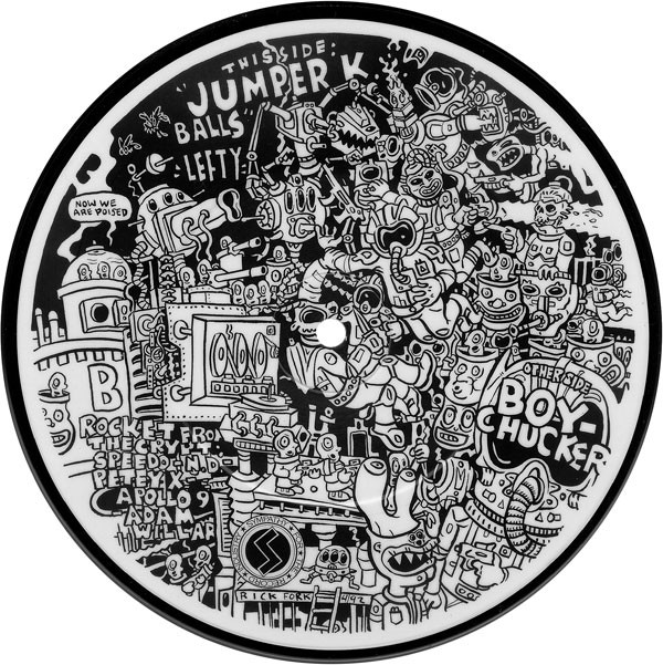 "Rocket From The Crypt - Boychucker 7"" picture disc side B"