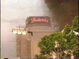 Rodney King Riots - Frederick's Of Hollywood - lingerie up in flames