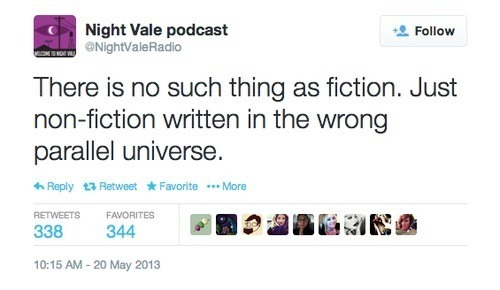 there is no such thing as fiction