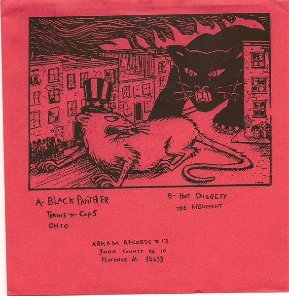 "This Bike Is A Pipe Bomb - The Black Panther Party 7"" back cover"