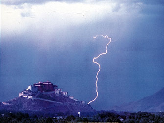 Lighting over the Potola, Lhasa, Tibet