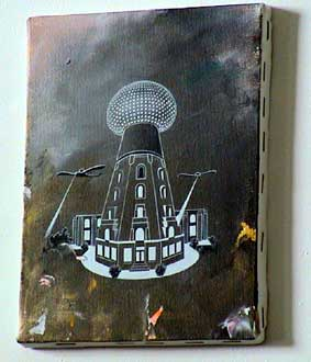 original painting by Tim Johnson - Wardenclyffe Tower