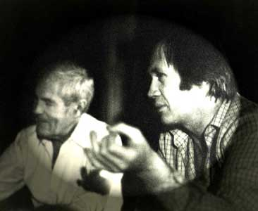 Timothy Leary and David Carradine