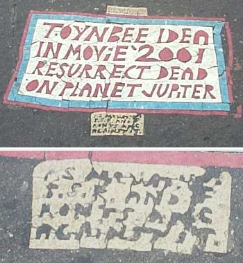 Toynbee tile franklin square DC 2002