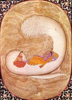 Vishnu's cosmic egg of creation